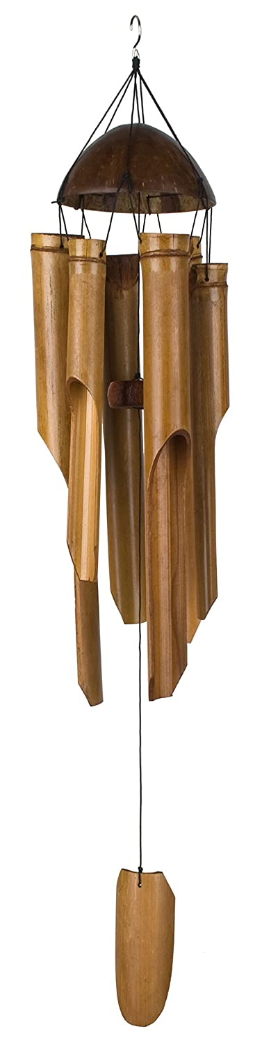Woodstock Chimes Asli Arts Collection Large Half Coconut Top Bamboo Chime C101