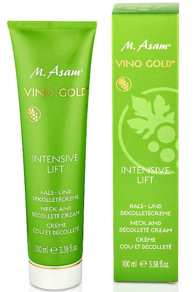 M. ASAM Vino Gold Intensive Lift Neck and Decollete Cream Jumbo Size 3.38 oz/ 100ml.