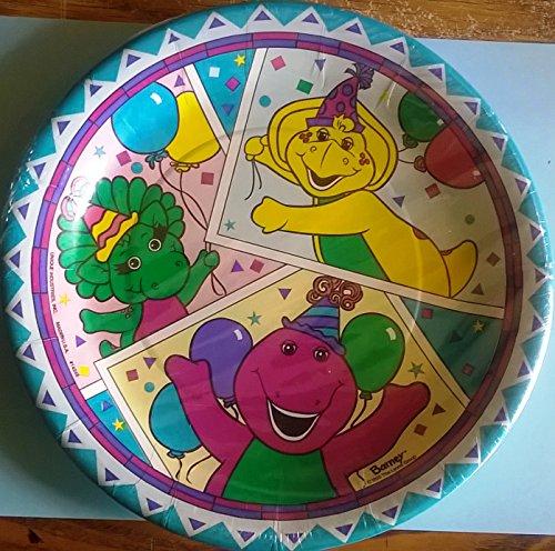 Barney Plates Border Blue Lunch