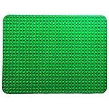 "Premium Dark Green Large 20"" x 15"" Construction Base Plate - LEGO DUPLO Compatible"