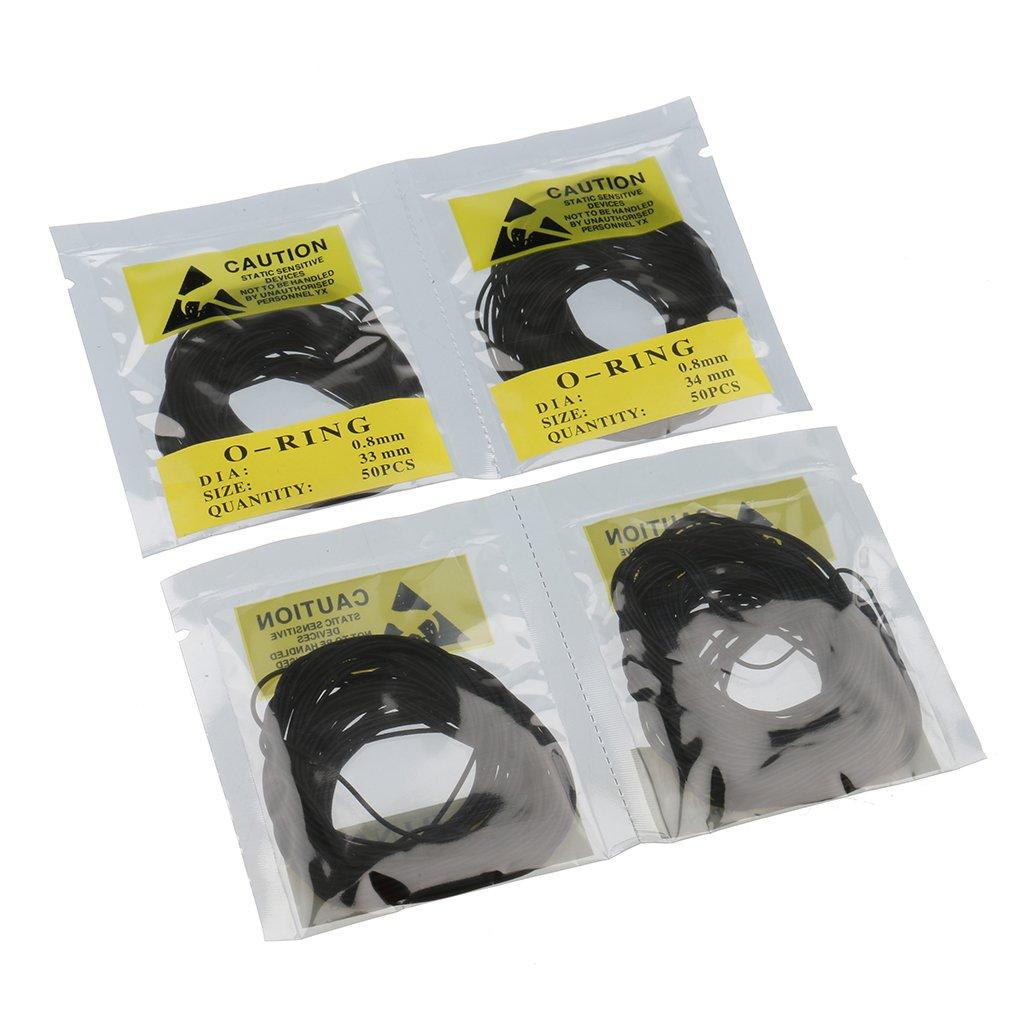 500 Pcs Uhren dichtungs satz O-Ring Zur/ück Fall Dichtungen 31-40mm