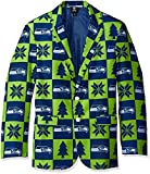 NFL Seattle Seahawks Men's Patches Ugly Business Jacket, Size 46/Large