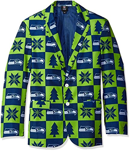 Seattle Seahawks Patches Ugly Business Jacket - Mens for sale  Delivered anywhere in USA