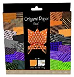 Avenue Mandarine Origami Paper, 20x20cm, 70g, 60 Sheets, Double Sided - Halloween