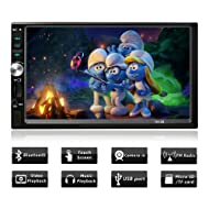 Double Din Touch Screen Car Stereo with Bluetooth 7 Inch Car Radio Receiver MP5/MP4