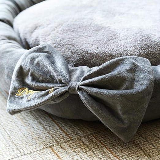 Amazon.com : Vivian Inc Beds & Furniture - Design Round Dog Bed Mats Cat Puppy Warm Winter Pet Nest Sofa Kennel Cute Accessories for Dog Cat Pet (Grey, ...