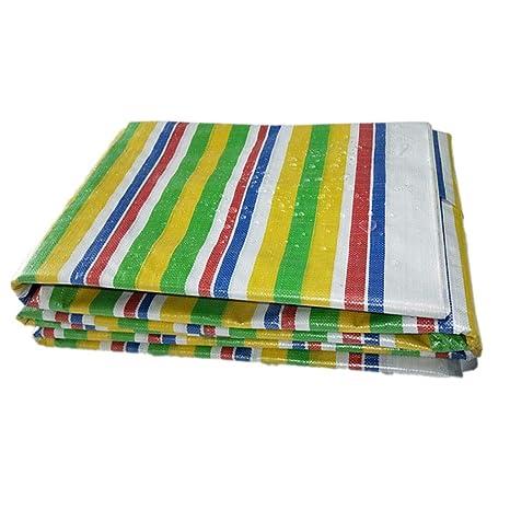Al aire libre, cobertizo grueso, tiras de colores, decoración de plástico, tela
