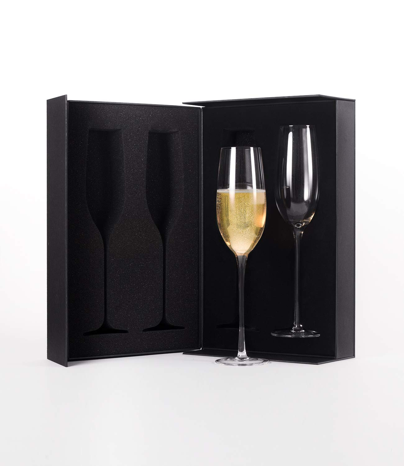 The Excelsior by DUX - Handmade, 100% Lead-Free, Crystal Champagne Flutes, Set of 2 Glasses, Elegant Gift Box by DUX (Image #3)