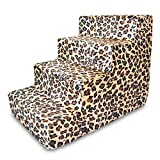 Best Pet Supplies ST225T-M Foam Pet Stairs/Steps, 4-Step, Animal Print
