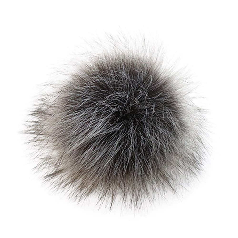 MILIMIEYIK Faux Fur Pom Ball, DIY Poms for Hats Shoes Scarves Bag Pompoms Keychain Charms Knitting Hat Accessories