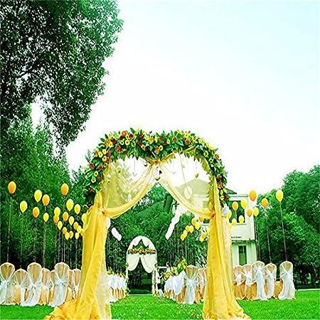 48 cm * 10 m Sheer Organza de cristal de tul rollo de tela para boda