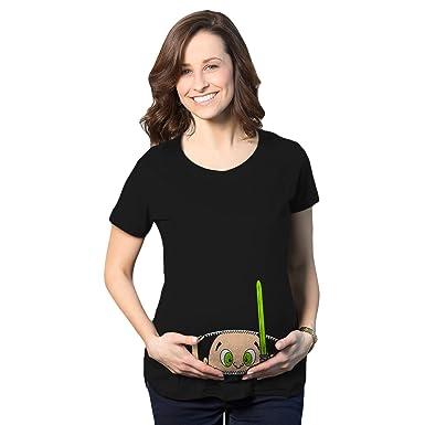 07312f103 Crazy Dog T-Shirts Maternity Peeking Jedi Baby Movie Funny Pregnancy Shower  Gift T Shirt