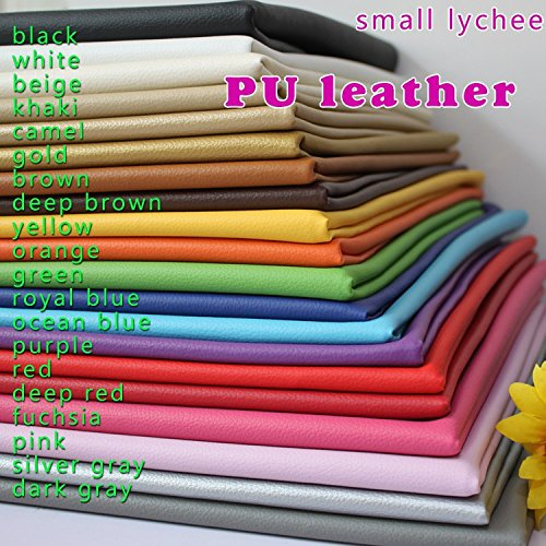 Small Lychee Pattern PU Leather Faux Leather Fabric Sewing Artificial Leather Upholstery Car Interior 54 Wide Sold by The Yard Black