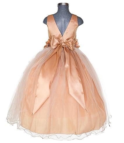 9bd40c2b6 Maylin Vestido de Presentación Mo. Elizabeth para Niña (Oro, Talla 4):  Amazon.com.mx: Ropa, Zapatos y Accesorios