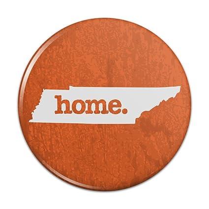 Tennessee TN Home State Textured Orange Officially Licensed Kitchen  Refrigerator Locker Button Magnet   1u0026quot;