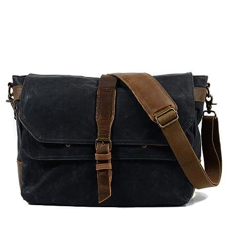 00d6376c786714 FELICIOO Men's Messenger Shoulder Bag Vintage Canvas Briefcase Crossbody Day  Bag for School and Work (Color : Dark gray): Amazon.co.uk: Kitchen & Home