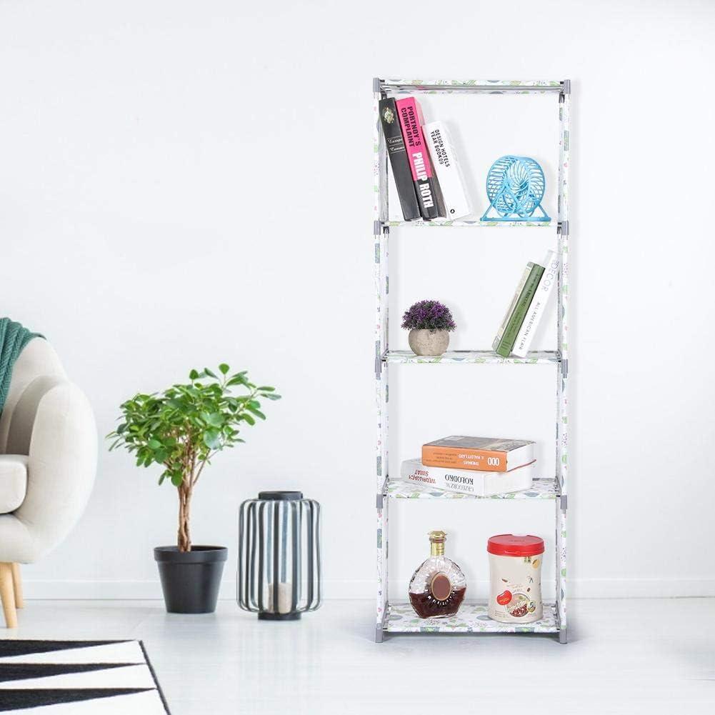 Nunafey Small Shelf Multi Layer Bookshelf Shelf Rack Book Rack Large Storage Living Room for Bedroom Office for Home gray