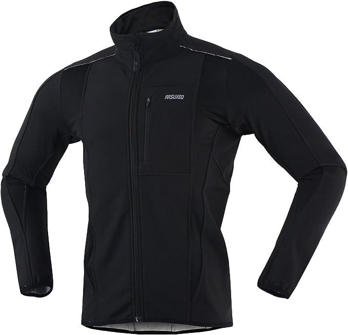 Amazon.com: ARSUXEO - Chaqueta térmica de ciclismo para ...