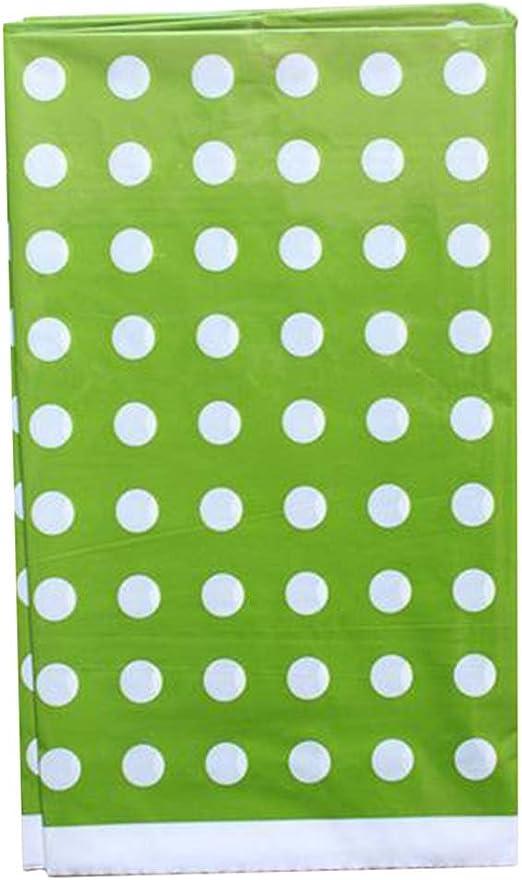 lumanuby mantel de plástico desechables redonda lunares mantel ...