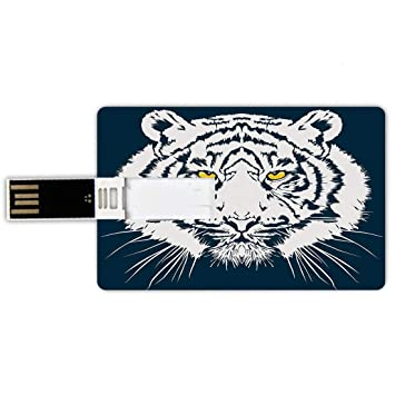 32GB Forma de tarjeta de crédito de unidades flash USB Tigre ...