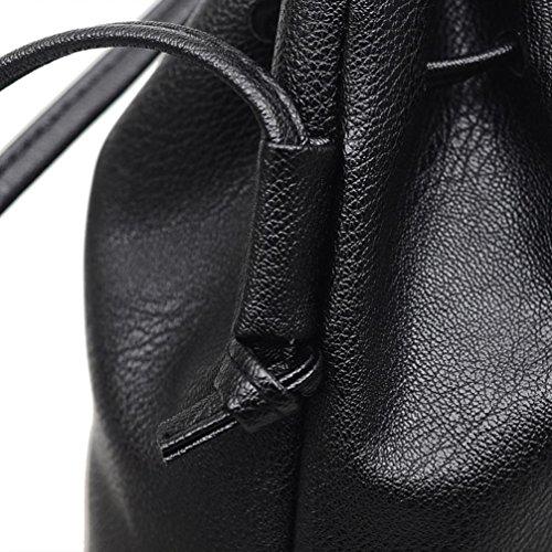 Spalla Messenger Borse A Moda Donna Catena Donna Borsa Valore Spalla Borsa feiXIANG® Spalla Borsa Shoulder Borsa Elegante Borse Nero Crossbody Bag Pelle Donne Bag Tote In ROZqaRn