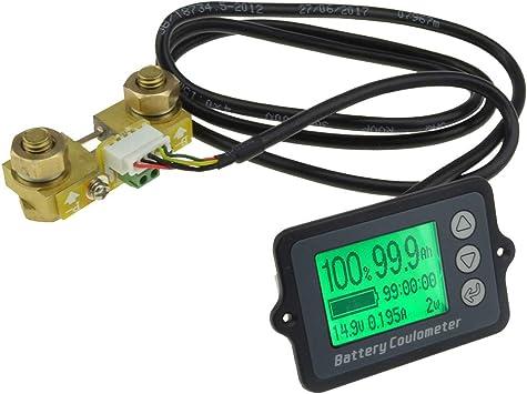 Toogoo 1 Stücke Tk15 Dc 8 V 80 V 100a Batterie Coulometer Professionelle Pr Zision Fahrzeug Batterie Tester Elektrische Mengen Anzeige Monitor Auto