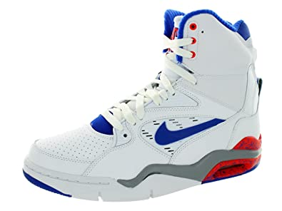 353f2cc5910b7 Nike Men's Air Command Force Basketball Shoe White/Lyn Bl/Brght ...