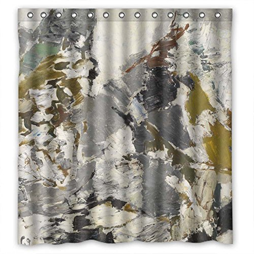 ONEE Christmas Shower Curtains Of Art Painting Louis Van Lint - White Spring Polyester Width X Height / 72 X 72 Inches / W H 180 By 180 Cm Best Fit For Her Bf Girls Valentine Teens. Rust Proof. Fa