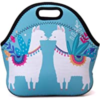 Insulated Lunch Bag Adult Portable Large Lunch Bag Thermal Large Cooler Tote Bag for Women (Alpaca Twins)