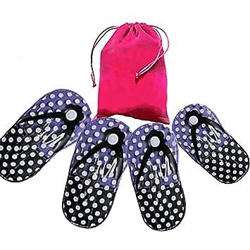 3aa5ad6de63a Amazon.com   Flip Flop Pedicure Set Shoe Polka Dot Manicure Pedicure Set  For Girls (Purple)   Beauty