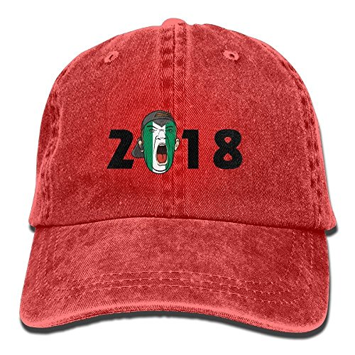 Taille Gorra Rosso Rojo para Unique Béisbol Zmacp de Hombre w0xHdqRRU