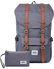 KAUKKO Rucksack Damen Herren Studenten Backpack