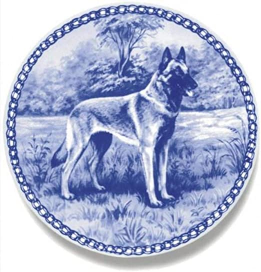 German Shepherd Dog Porcelain Plate Perfect For all Dog Lovers Size 7.61 inches