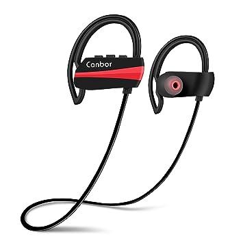 Auriculares Bluetooth, Canbor auriculares inalámbricos Bluetooth 4.1 auriculares IPX7 estéreo deportivos para iPhone iPad Samsung y otros moviles: ...