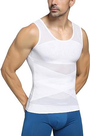 Jolie Sin Costura Camisa de compresión Hombres Adelgazar ...