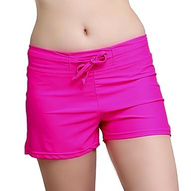 6777a24ccb1a0 Women's Swim Shorts Board Shorts Tiedye Black Pink Beach Pants ...