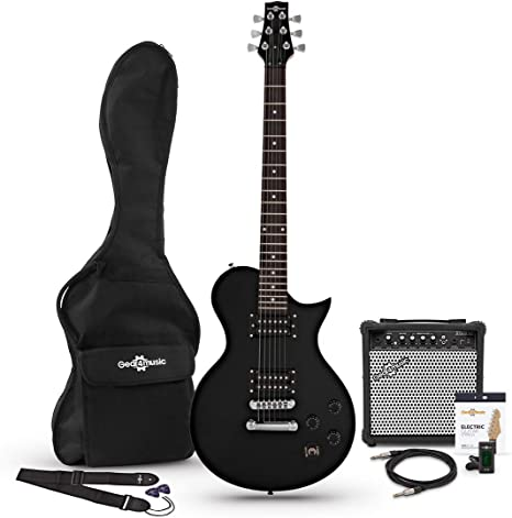 Set de Guitarra Electrica New Jersey Classic + Amplificador de 15 W Black: Amazon.es: Instrumentos musicales