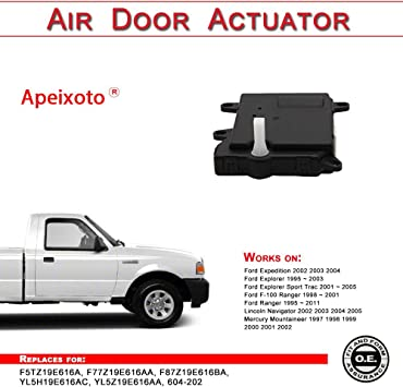 Amazon Com Hvac Heater Air Blend Door Actuator For Ford Expedition Explorer F 100 Ranger Lincoln Navigator Mercury Mountaineer Replace F5tz19e616a F77z19e616aa F87z19e616ba Yl5h19e616ac Yl5z19e616aa 604 202 Automotive