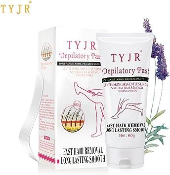 Crema depilatoria para mujer, crema permanente, potente depilación parada, eliminación de inhibidores de crecimiento del cabello, tubo de 75 g: Amazon.es: Salud y cuidado personal