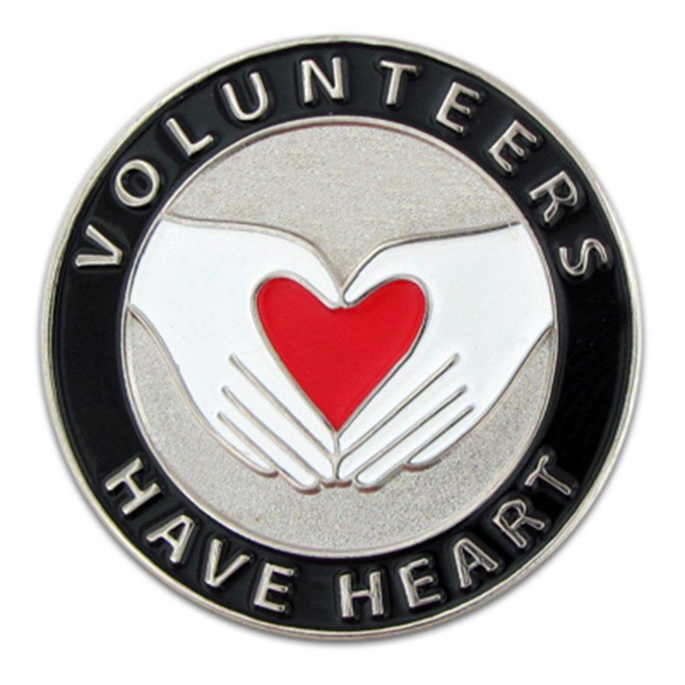 PinMart's Volunteers Have Heart Enamel Lapel Pin