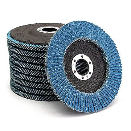 Kamas 10pcs 5 Inch 40/60/80/120 Grit Flap Disc Sanding Grinding Wheels - (Size: #40)