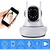 Sonolife - Cámara IP WiFi de Vigilancia con Definición Full HD 1080 * 720 con Conexión a Dispositivos Móviles