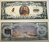 Set of 5 Bills-Jesus 7 Dollar Bill