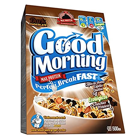 Max Protein Good Morning Breakfast - Cereales Ecologicos 500 gr - Dark Chocolate: Amazon.es: Salud y cuidado personal