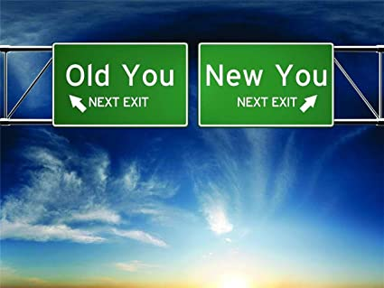 Old You New You Road Exit Sign Baptism Church Gods Word The Body Of