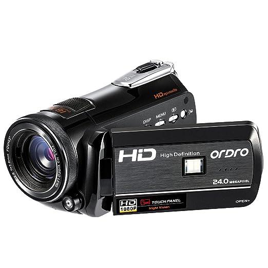 3 opinioni per ORDRO Videocamera digitale 1080P 30FPS FHD Visione notturna professionale con