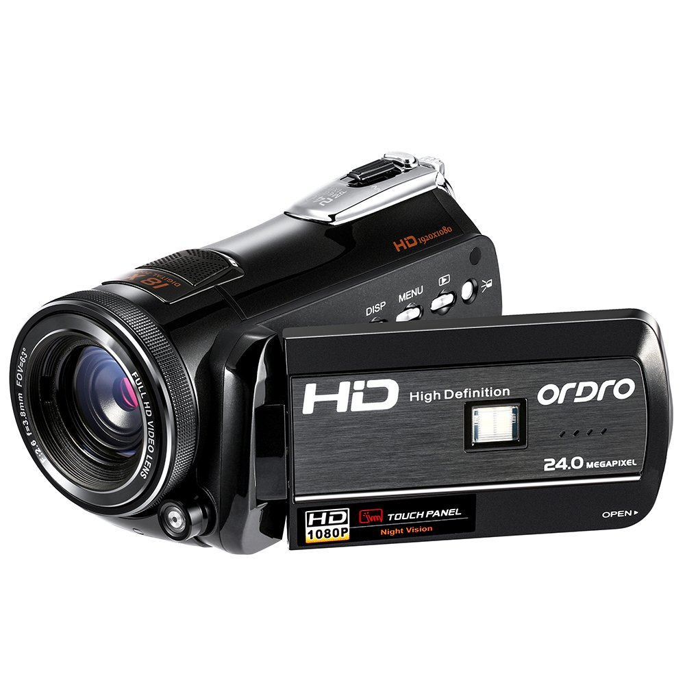 ORDRO HDV-D395 Night Vision Camcorder WiFi Full HD 1080P 18X Zoom Digital Video Camera 3.0Inches LCD Screen Webcam HDMI Remote Control by ORDRO (Image #1)