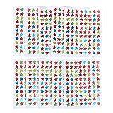 Zeroyoyo Trend Enterprises Assorted Color Sparkle Stars Stickers Educational Paster 10pcs