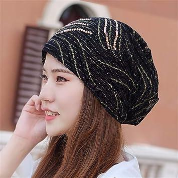 Gxinyanlong Sombrero de Bufanda de Encaje Respirable de Cuatro Estaciones  de Las Mujeres 3a4d70ccae2