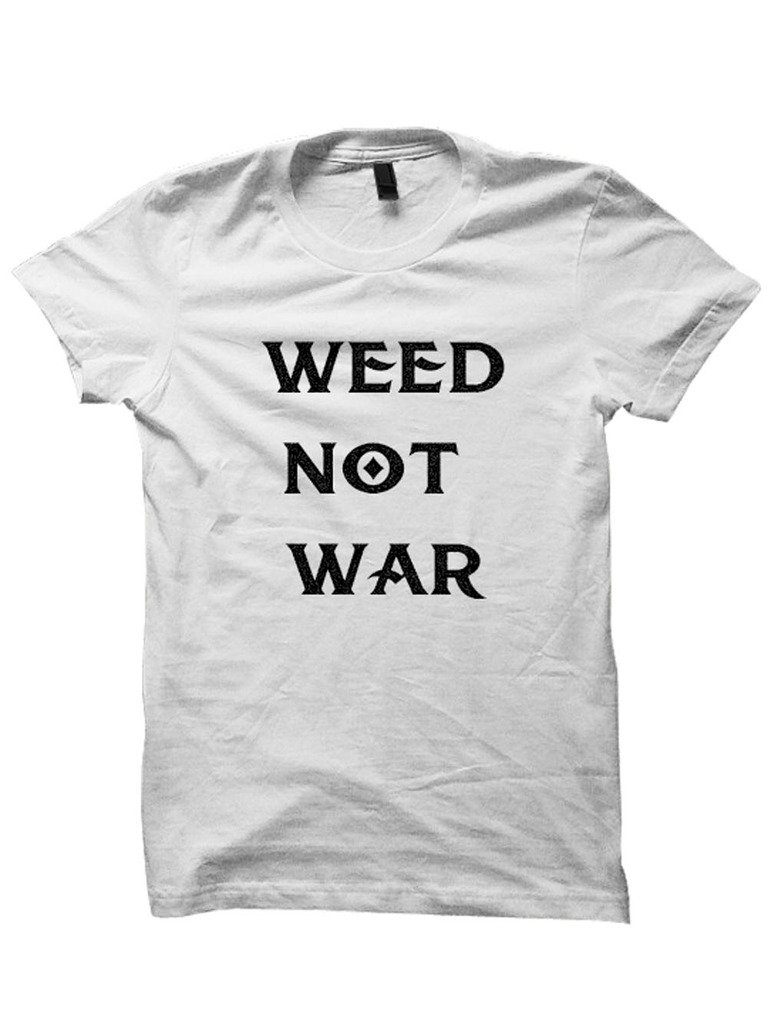 Weed Not War T-Shirt Weed Cannabis Clothing 420 Womens Tees Plus Sizes